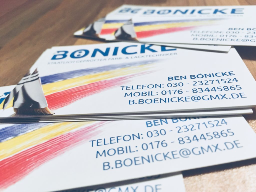 Bönicke - business cards