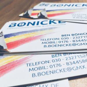 Bönicke – Visitenkarten
