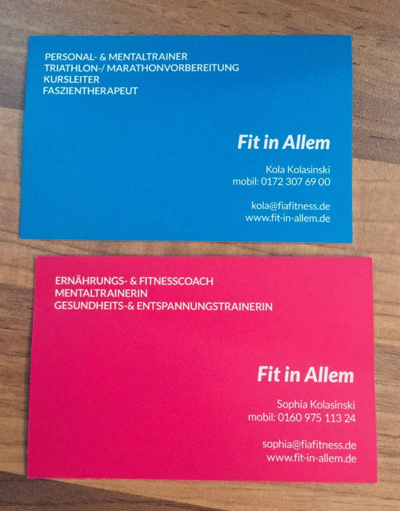 FIA - business cards