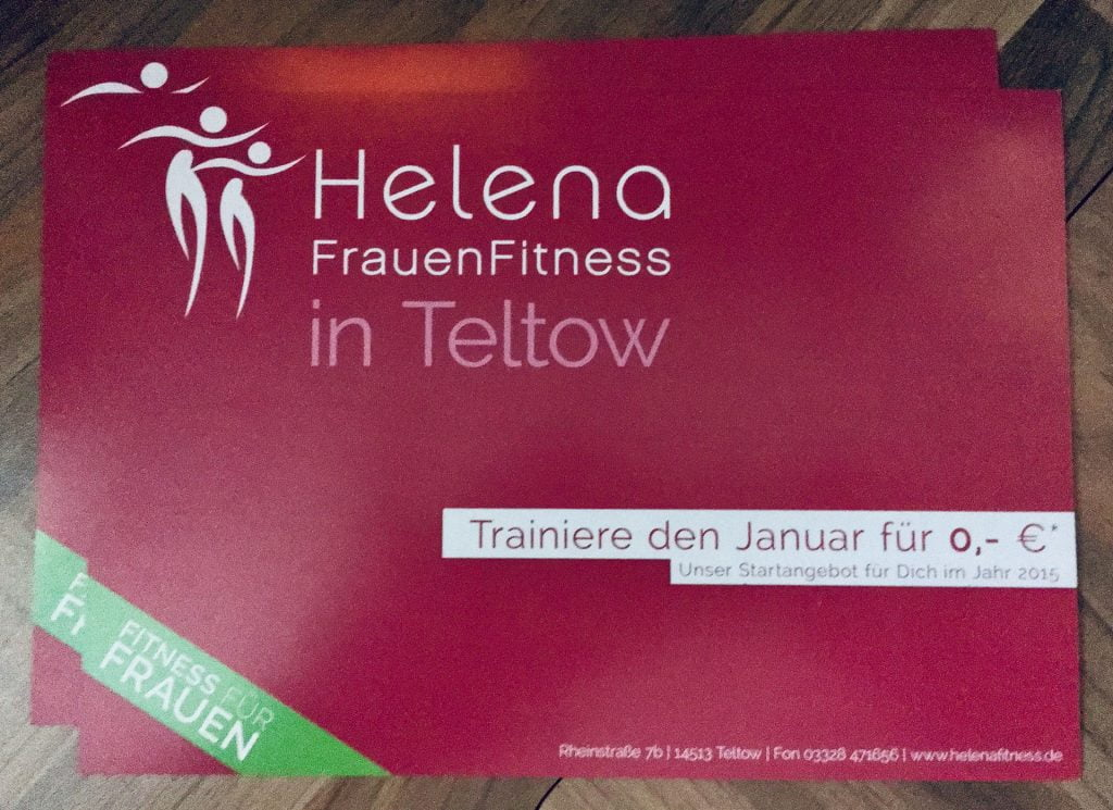 Helena FrauenFitness - Flyer