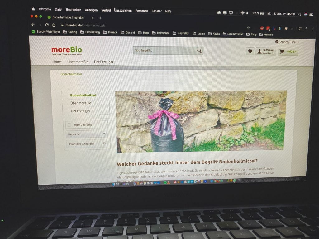 moreBio - Online Shop